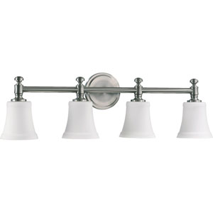 Four-Light Satin Nickel Bath Fixture