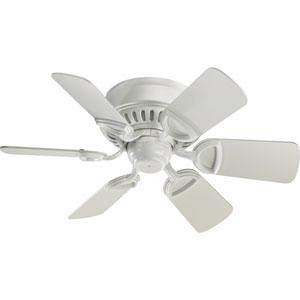 Medallion Studio White 30-Inch Ceiling Fan