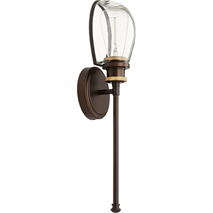 Menlo Aged Brass with Oiled Bronze One-Light 4.75-Inch Wall Sconce
