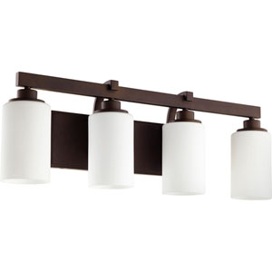 Lancaster Oiled Bronze Four-Light 28-Inch Vanity