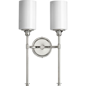 Celeste Polished Nickel Two-Light 11-Inch Wall Mount