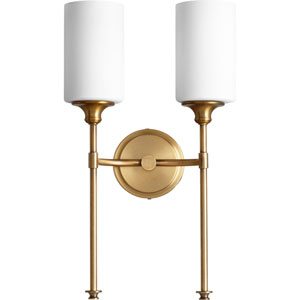 Celeste Aged Brass Two-Light 11-Inch Wall Mount