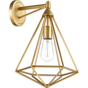 Bennett Aged Brass One-Light Wall Sconce