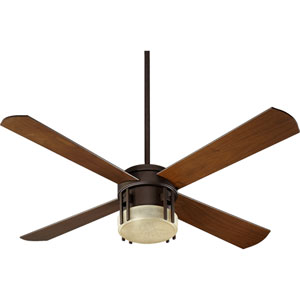 Mission Three-Light Oiled Bronze 52-Inch Ceiling Fan