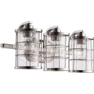 Ellis Satin Nickel Three-Light 20-Inch Vanity
