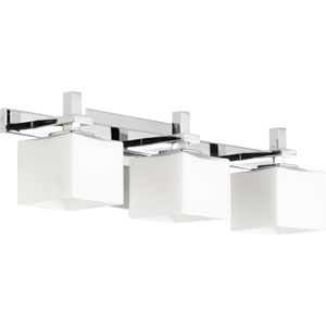 Chrome 5.25-Inch Three Light Bath Vanity Fixture