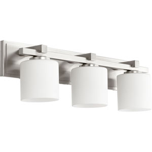 Satin Nickel 24-Inch Three-Light Vanity