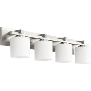 Satin Nickel 33-Inch Four-Light Vanity