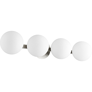 Satin Nickel Four-Light 29.75-Inch Bath Vanity