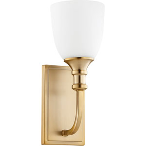 Richmond Aged Brass One-Light 5-Inch Wall Mount