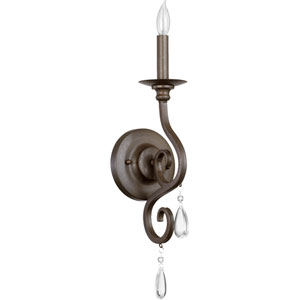 Anders Oiled Bronze One Light Wall Mounted Fixture with Bracket