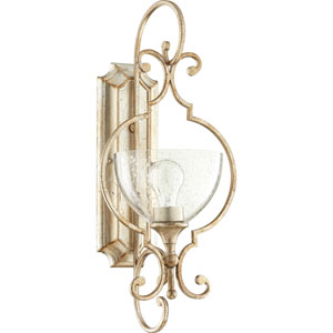 Ansley Aged Silver Leaf One-Light 10-Inch Wall Mount