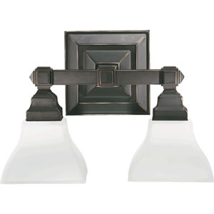 Craftsman Two-Light Old World Sconce
