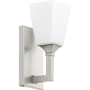 Wright Satin Nickel One-Light 5-Inch Wall Sconce
