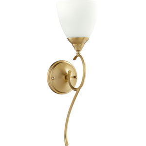 Flora Aged Brass One-Light 6-Inch Wall Mount