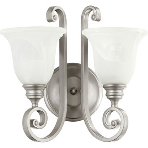 Bryant Classic Nickel 15.5-Inch Two-Light Bath Sconce