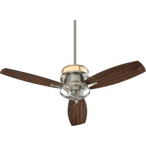 Bristol Three-Light Satin Nickel 54-Inch Ceiling Fan
