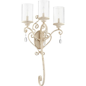 San Miguel Persian White Three-Light Wall Sconce