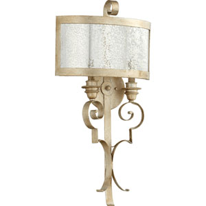 Champlain Aged Silver Leaf 15-Inch Two-Light Wall Sconce