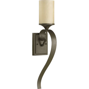 Atwood One-Light Oiled Bronze with Antique Gold Sconce