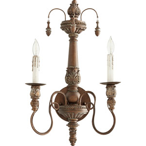 Salento Vintage Copper 11.5-Inch Two-Light Wall Sconce