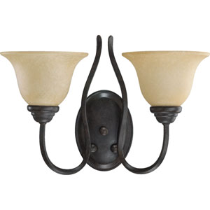 Spencer Two-Light Toasted Sienna Sconce