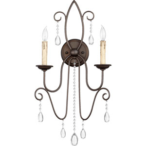 Cilia Oiled Bronze 26-Inch Two Light Wall Mounted Fixture