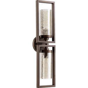 Julian Oiled Bronze 6-Inch Two-Light Bath Sconce