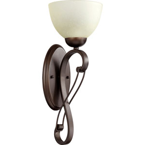 Lariat Oiled Bronze 7-Inch One-Light Bath Sconce