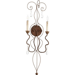 Venice Vintage Copper 10.5-Inch Two-Light Wall Sconce