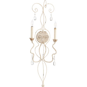 Venice Persian White 10.5-Inch Two-Light Wall Sconce