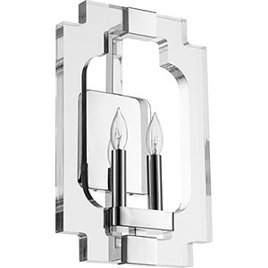 Broadway Polished Nickel Two-Light 10.5-Inch Wall Sconce