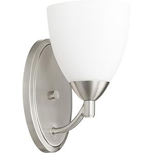 Barkley Satin Nickel One-Light 5.75-Inch Wall Sconce