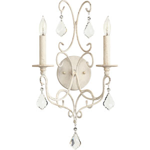 Ariel Persian White Two-Light 11-Inch Wall Mount