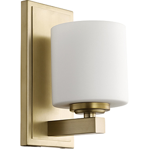Aged Brass One-Light 4.75-Inch Wall Sconce