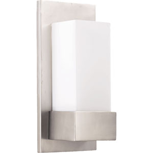 One-Light Satin Nickel Sconce