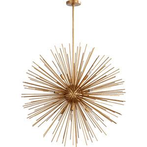 Electra Gold Leaf 35-Inch Ten-Light Pendant