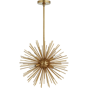 ELECTRA Gold Leaf Six-Light 23-Inch Pendant