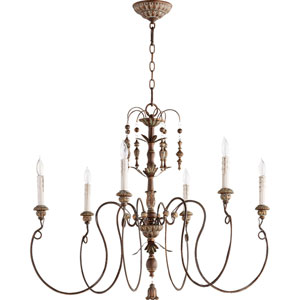 Salento Vintage Copper 32-Inch Six-Light Chandelier