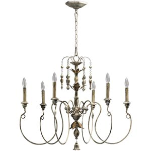 Salento Six-Light Persian White Chandelier