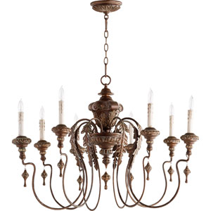 Salento Vintage Copper 38-Inch Eight-Light Chandelier