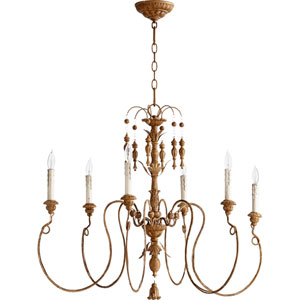 Salento French Umber 28-Inch Six Light Chandelier