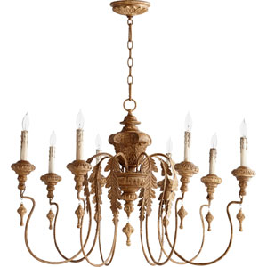 Salento French Umber 24-Inch Eight Light Chandelier