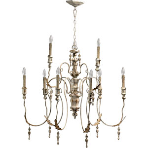 Salento Nine-Light Persian White Chandelier