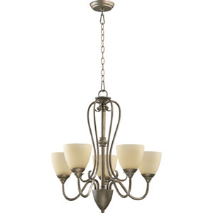 Powell Five-Light Mystic Silver Chandelier