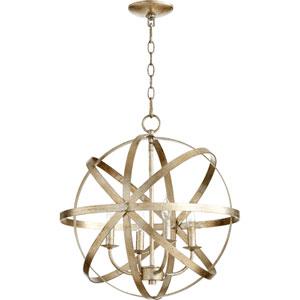 Celeste Aged Silver Leaf 19-Inch Four-Light Globe Pendant
