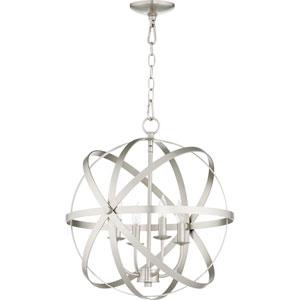 Celeste Satin Nickel Four-Light 19-Inch Pendant