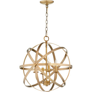 Celeste Aged Brass Four-Light 19-Inch Pendant