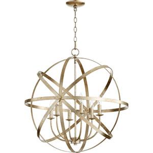 Celeste Aged Silver Leaf 25.5-Inch Six-Light Globe Pendant
