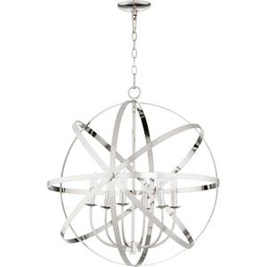 Celeste Polished Nickel Six-Light 26-Inch Pendant